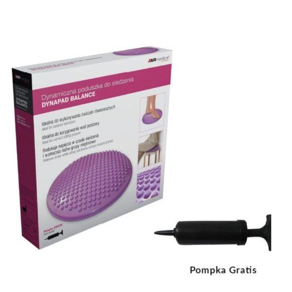 dynamiczna poduszka fioletowa pompka