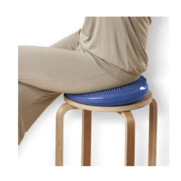 dynamiczna poduszka niebieska na siedzenie