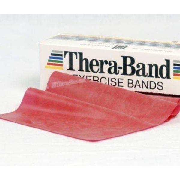 taśma thera band czerwona opór średni