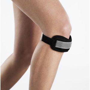 opaska podtrzymująca na kolano skoczka