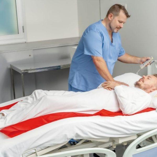 łatwoślizg na łóżku rehabilitacyjnym