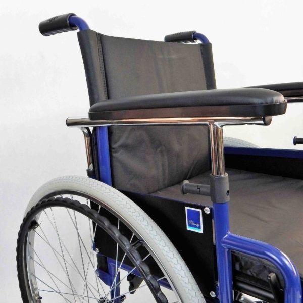 wozek inwalidzki stalowy klasyczny bok