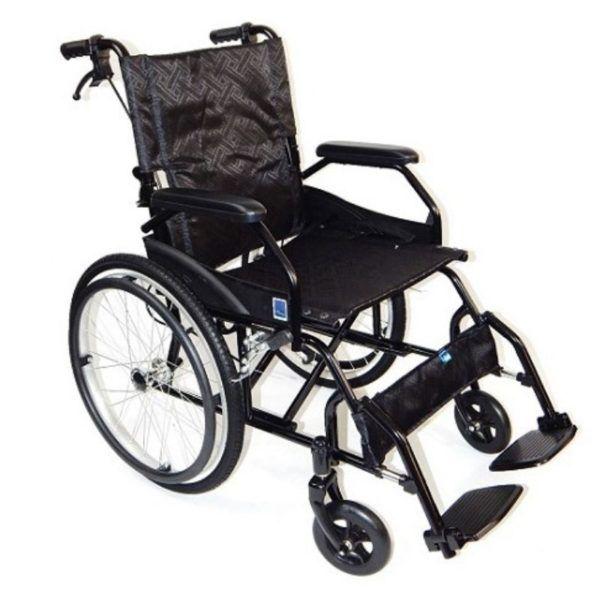 wozek inwalidzki stalowy z przodu