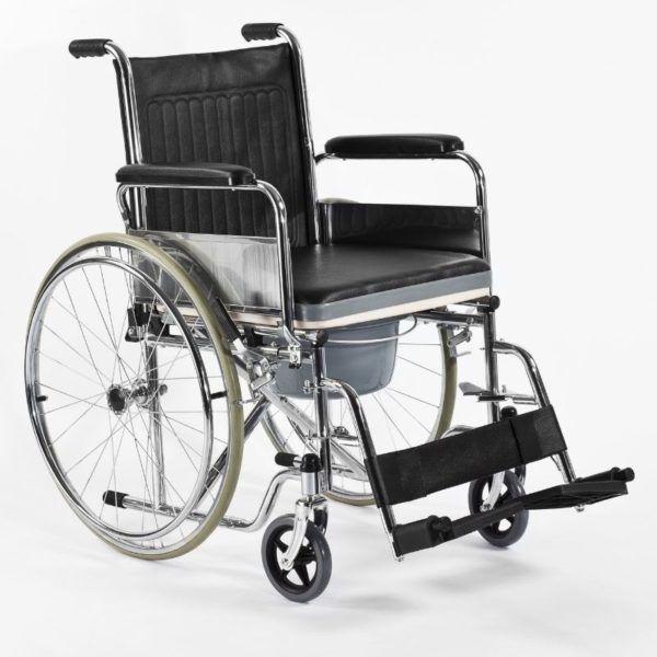 wozek inwalidzki z funkcją toalety